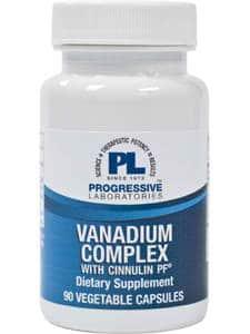 Vanadium Complex w/ Cinnulin PF 90c by Progressive Labs