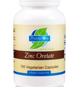 Zinc Orotate 300mg 100c by Priority One