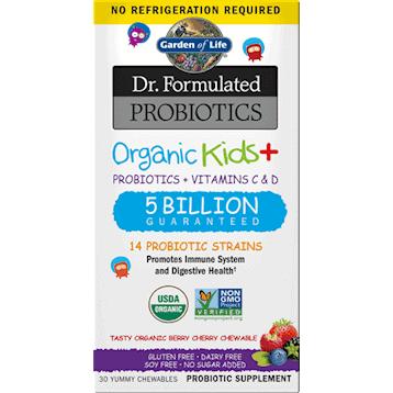 Organic Kids Probiotics Berry SS 30chew by Garden of Life 1