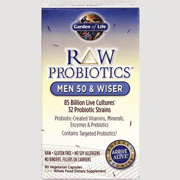RAW Probiotics Men 50 & Wiser 90 vcaps by Garden of Life 1