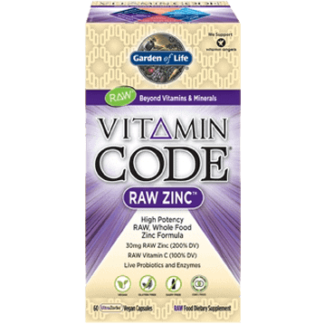 Vitamin Code RAW Zinc 60 vcaps by Garden of Life 1