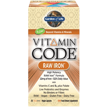 Vitamin Code Raw Iron 30vcaps by Garden of Life 1