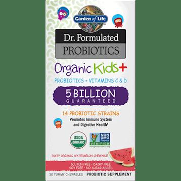 Dr. Formulated Organic Kids Probiotics Watermelon 30 chews by Garden of Life 1
