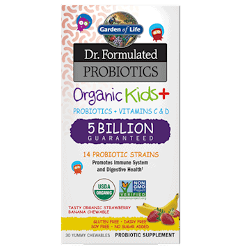 Organic Kids Probiotics Strawberry/Banana 30chews by Garden of Life 1