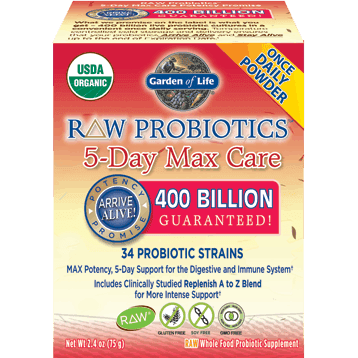 RAW Probiotics 5 Day Max Care 2.4 oz by Garden of Life 1