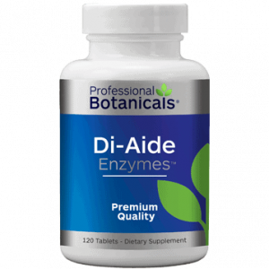 DI-Aide Enzymes 120tabs by Professional Botanicals