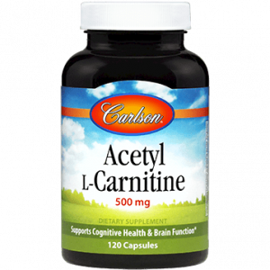 Acetyl L Carnitine 500mg 120c By Carlson Labs