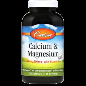 Calcium & Magnesium 250 gels by Carlson Labs