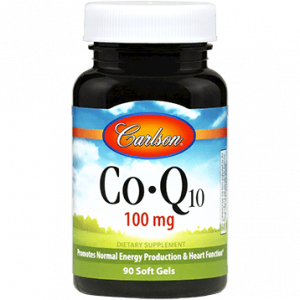 CoQ10 100mg 90gels by Carlson Labs