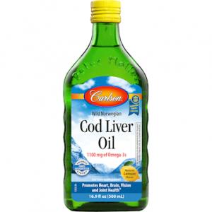 Cod Liver Oil Lemon 16.9oz by Carlson Labs