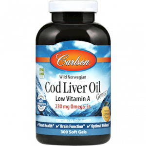 Cod Liver Oil Low Vit A 300gels By Carlson Labs