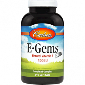 E-Gems Elite 240 gels by Carlson Labs