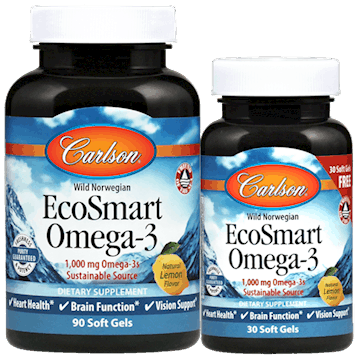 EcoSmart 90+30 softgels by Carlson Labs