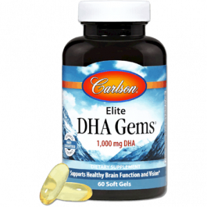 Elite Dha Gems 60sgels By Carlson Labs