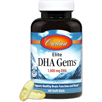Elite Dha Gems 60sgels By Carlson Labs