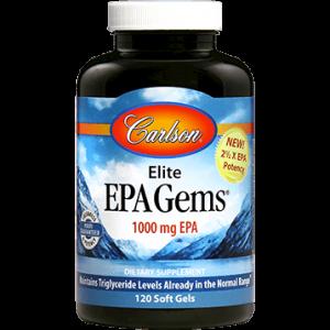 Elite EPA Gems 120sgels by Carlson Labs