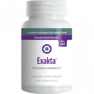 Exakta 120vcaps by D'Adamo Personalized Nutrition