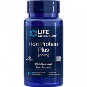 Iron Protein Plus 300 mg 100vcaps by Life Extension