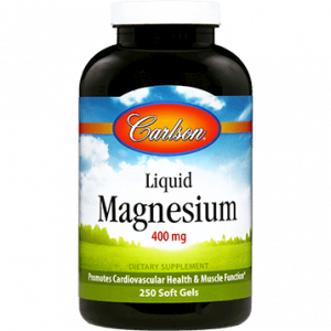 Liquid Magnesium 400mg 250gels By Carlson Labs