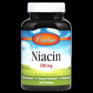 Niacin 500mg 250t By Carlson Labs