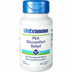 PEA Discomfort Relief 60 chew tabs by Life Extension