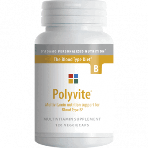 Polyvite B 120vcaps by D'Adamo Personalized Nutrition