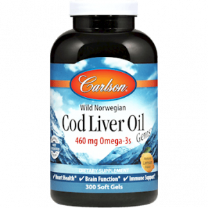 Wild Norwegian CodLiver Oil 300sgels by Carlson Labs