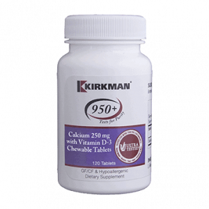Calcium with Vit D-3 250 mg 120 chews by Kirkman Labs