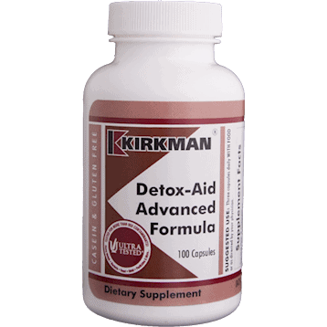 Detox Aid Advanced Formula 100 Caps By Kirkman Labs
