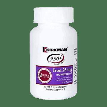 Iron Bio Max Series 25mg 120 Caps By Kirkman Labs