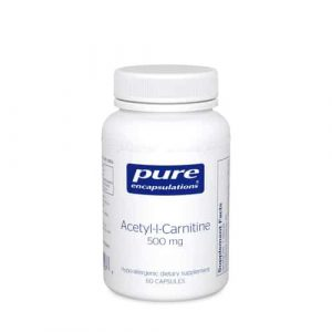 Acetyl-L-Carnitine 500mg 60c by Pure Encapsulations