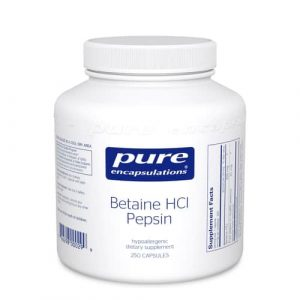 Betaine HCL Pepsin 250c by Pure Encapsulations