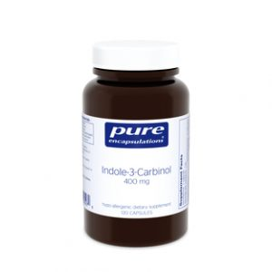 Indole-3-Carbinol 400mg 120c (F) by Pure Encapsulations