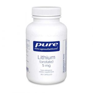 Lithium Orotate 5mg 180c by Pure Encapsulations