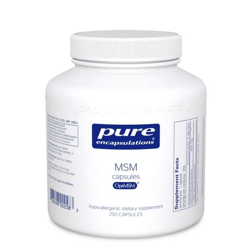 MSM capsules (850mg) 250c by Pure Encapsulations