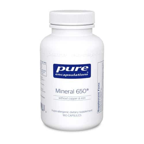 Mineral 650 w/o Cu & Fe 180c by Pure Encapsulations