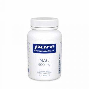 NAC (N-Acetyl-l-Cysteine) 600 mg 90c by Pure Encapsulations