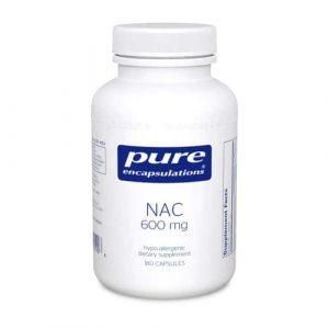 NAC (N-Acetyl-l-Cysteine) 600 mg. 180c by Pure Encapsulations
