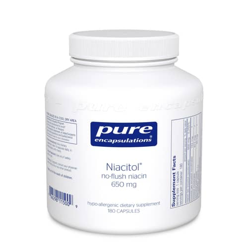 Niacitol 650 mg. 180c by Pure Encapsulations