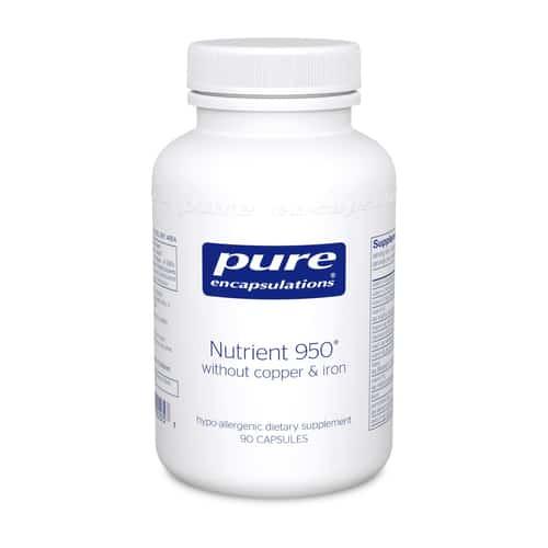 Nutrient 950 w/o Cu & Fe 90c by Pure Encapsulations