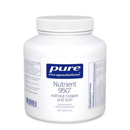 Nutrient 950 w/o Cu & Fe 180c by Pure Encapsulations