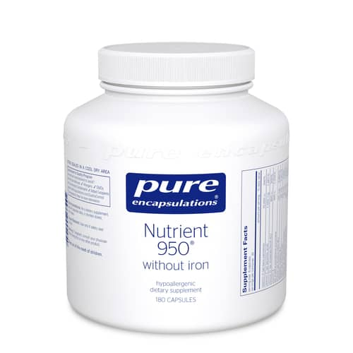 Nutrient 950 w/o iron [Fe] 180c by Pure Encapsulations