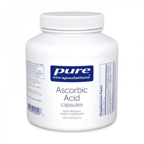 Pure Ascorbic Acid capsules (1000mg) 250c by Pure Encapsulations