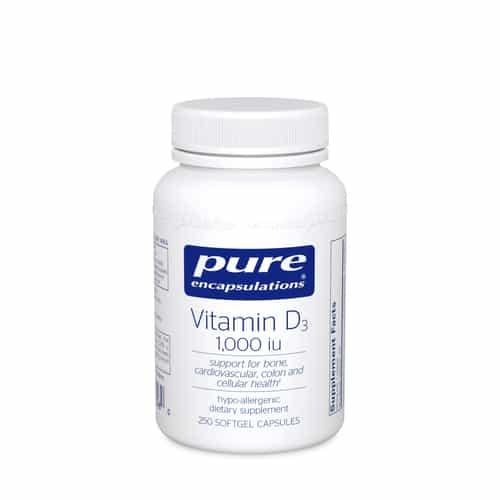 Vitamin D3 1000 i.u. 250c by Pure Encapsulations
