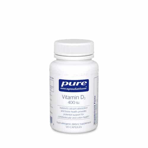 Vitamin D3 400 i.u. 120c by Pure Encapsulations
