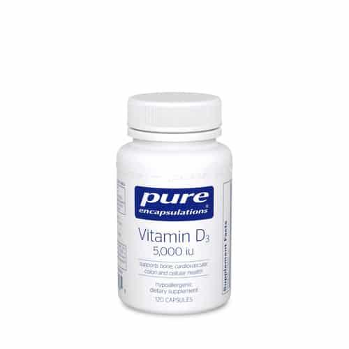 Vitamin D3 5000 i.u. 120c by Pure Encapsulations