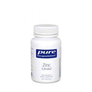 Zinc (citrate) 180c by Pure Encapsulations