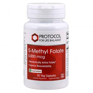 5 Methyl Folate 5000mcg 50vcaps By Protocol