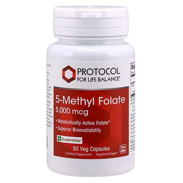 5 Methyl Folate 5000mcg 50vcaps By Protocol