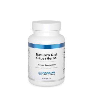 Nature's Diet Capsules + Herbs 90c By Douglas Labs